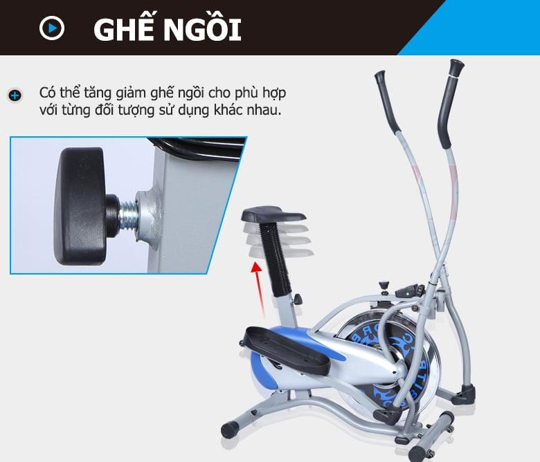 Xe Đạp Tập iBike 4000 có thể tăng giảm chiều cao của ghế