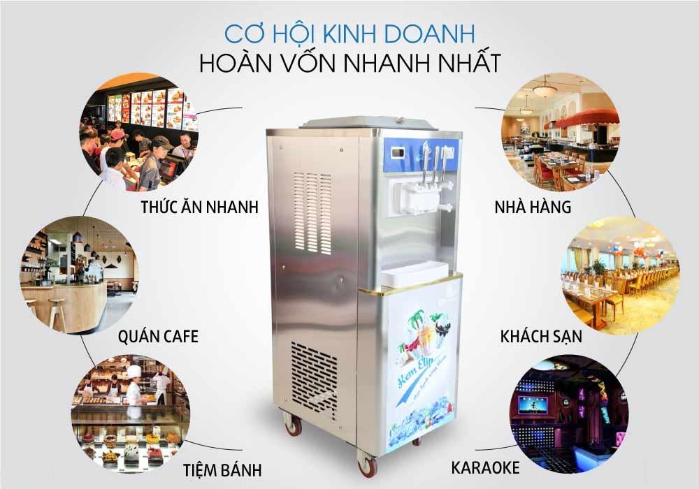 máy kem thanh lý
