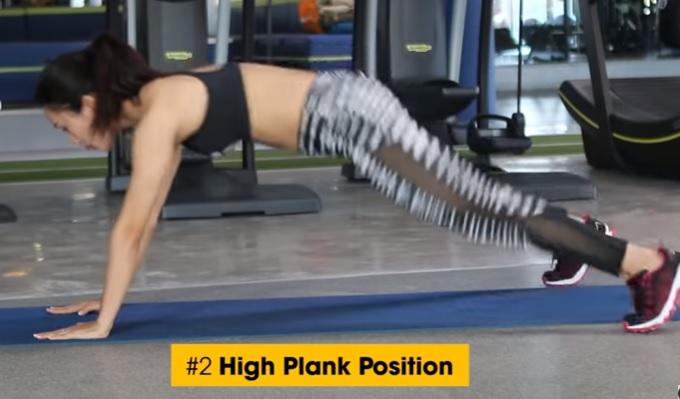Cardio động tác High Plank Position