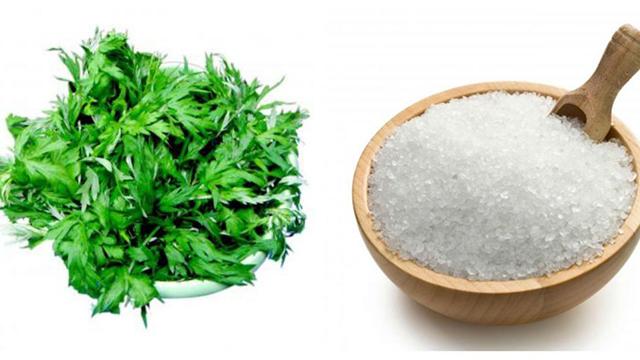 giảm mỡ bụng bằng muối và ngải cứu